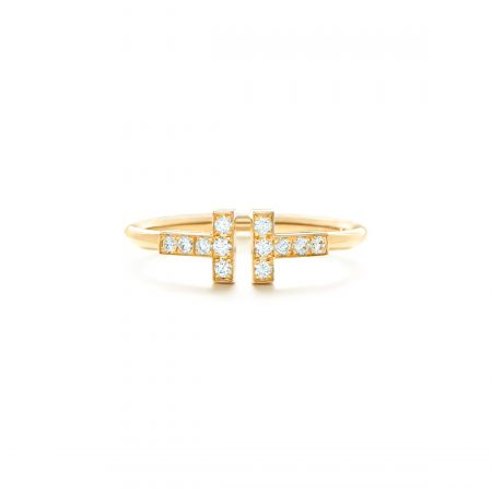 Tiffany T 系列18K金鑲鑽戒指 NT$61,000