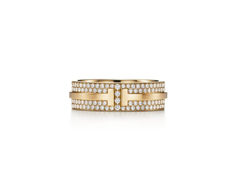 Tiffany T Two 18K金鋪鑲鑽石戒指,NT$ 264,000