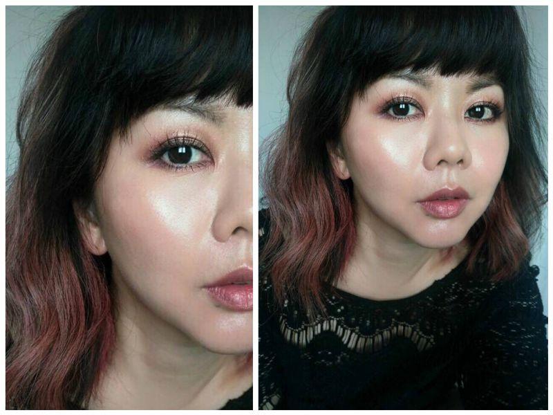 整體妝容EYE COLOR QUAD 04 HONEYMOON (示範色)搭配TOM FORD 的底妝,完全變身自體發光機!