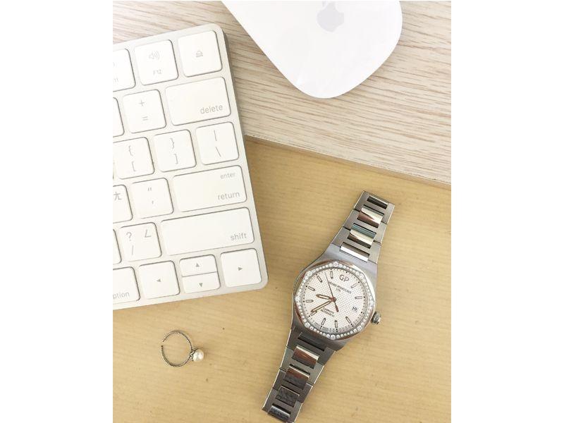 34MM鑲鑽玫瑰金錶殼鱷魚皮錶帶_NTD 556,000