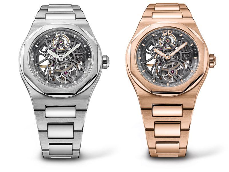 Laureato 38MM鑲鑽不鏽鋼錶殼銀面鋼帶款_NTD 440,000陀飛輪鈦金屬及玫瑰金錶殼灰錶盤鱷魚皮錶帶_NTD 2,852,000