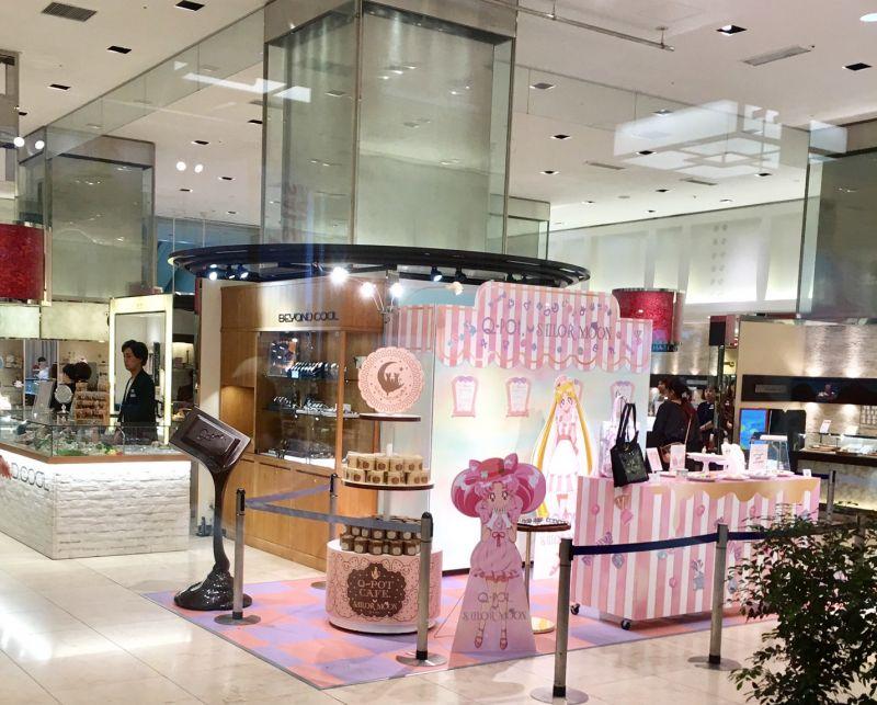 同場加映日本新宿伊勢丹百貨 6/30日 也有美少女戰士跟珠寶品牌跨界快閃