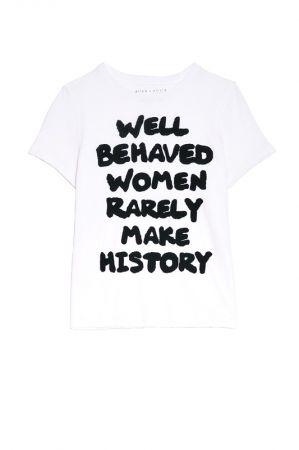 .OK第二款標語寫上「well behaved women rarely make history (安分守已的女性很少創造歷史)」,售價$5,500