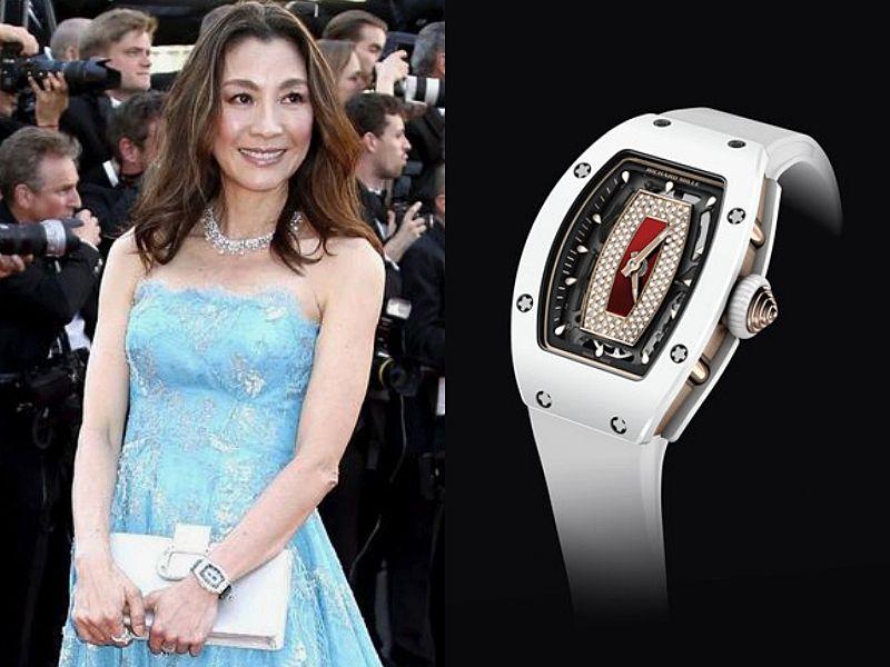 女星楊紫瓊佩戴 RM07-01 女性自動上鍊腕錶。