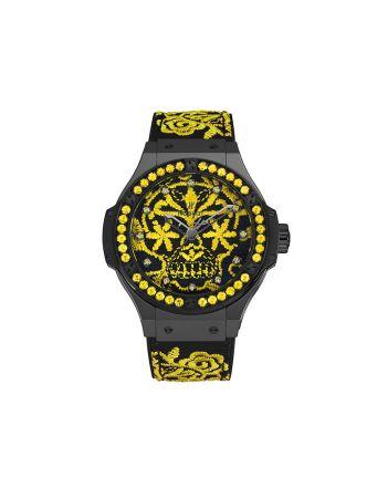 Big Bang 系列錶盤刺繡腕錶,Hublot。