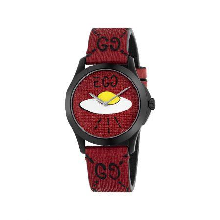 紅色橡膠錶面浮印GUCCI飛碟圖案,Gucci,NT32,000