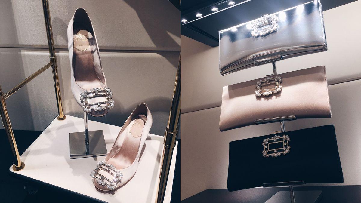 鞋控們注意!Roger Vivier經典方扣鞋第一次換上珍珠框,閃耀你的秋冬鞋櫃