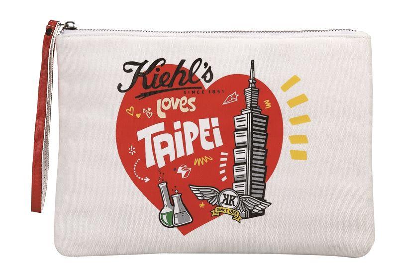 2017 Kiehl's Loves Taipei 系列限定城市隨行包,NT350。