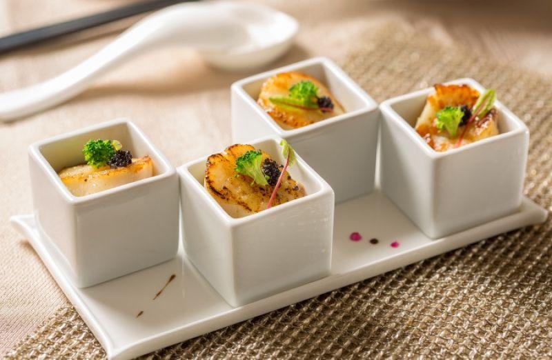 台北國賓粵菜廳夏季新菜-翡翠干貝泥佐魚子醬