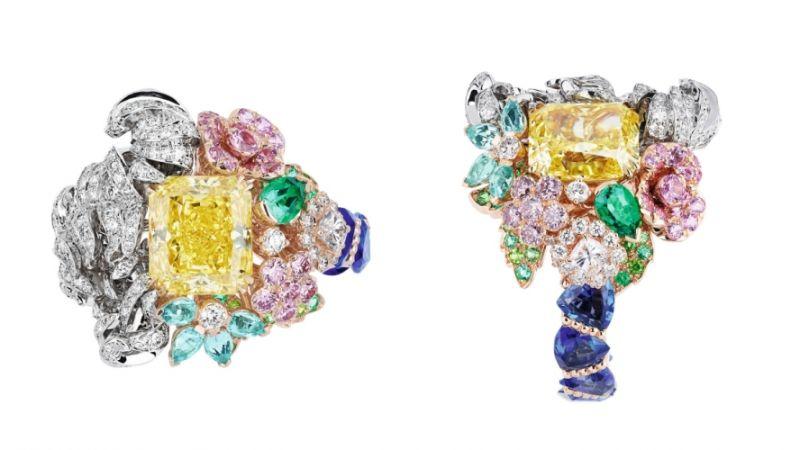 GRAND CANAL黃鑽戒指_粉紅色K金、白K金、黃K金、鑽石、黃鑽、藍寶石、粉紅剛玉、帕拉依巴碧璽、祖母綠、粉紅鑽、沙弗萊石、翠榴石,NT$ 25,000,000。