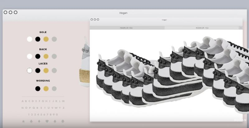 多達64種鞋款組合,除了多種配色選擇的鞋底、鞋提以及鞋帶,更可放上名字與造型圖騰增添個人化特色。獨一無二的HOGAN #H320 更附贈特殊限定的鞋盒及鞋袋,成為本季最受矚目的鞋履焦點。