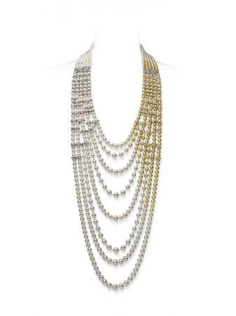 MIKIMOTO Praise to Nature頂級珠寶系列《海洋》鑽石真珠串鍊,NT23,340,000。