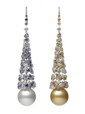 MIKIMOTO Praise to Nature頂級珠寶系列《海洋》南洋真珠耳環,NT3,340,000
