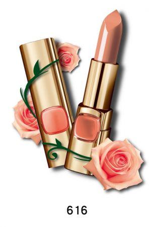巴黎萊雅 純色訂製唇膏 玫瑰風暴系列,4.2g,NT$385(616玫瑰嫩裸)