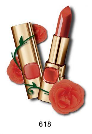 巴黎萊雅 純色訂製唇膏 玫瑰風暴系列,4.2g,NT$385(618磚情玫瑰)