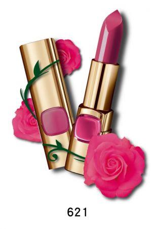 巴黎萊雅 純色訂製唇膏 玫瑰風暴系列,4.2g,NT$385(621優雅玫瑰)
