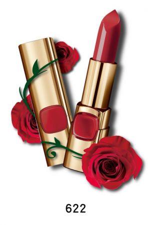 巴黎萊雅 純色訂製唇膏 玫瑰風暴系列,4.2g,NT$385(622經典紅玫瑰)