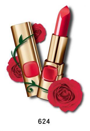 巴黎萊雅 純色訂製唇膏 玫瑰風暴系列,4.2g,NT$385(624紅武士玫瑰)