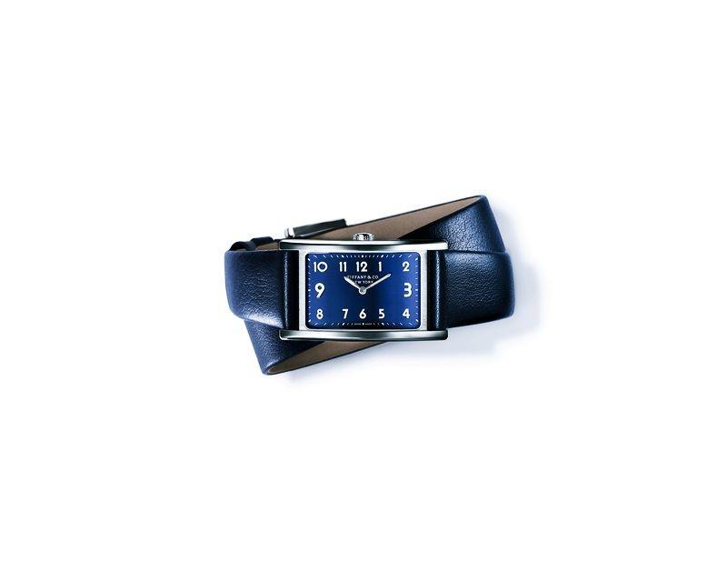 Tiffany East West 深藍錶盤迷你腕錶 NT$120,000