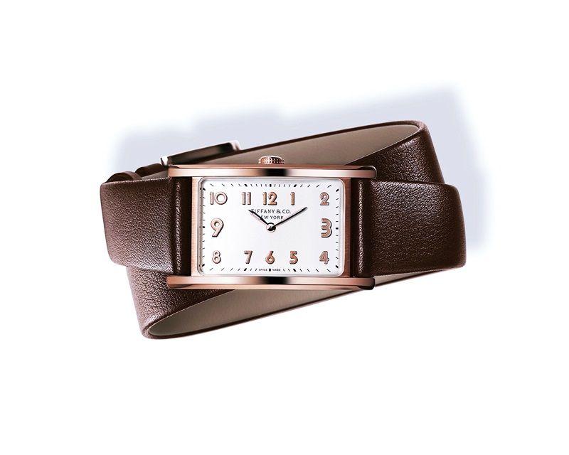 Tiffany East West 白色錶盤玫瑰金錶殼迷你腕錶 NT$258,000