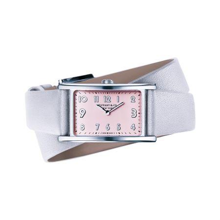 Tiffany East West 粉紅錶盤迷你腕錶 NT$120,000