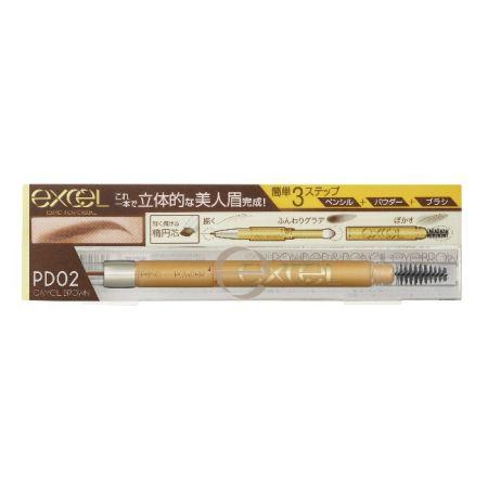EXCEL3合1持久造型眉筆02焦糖棕,NT520