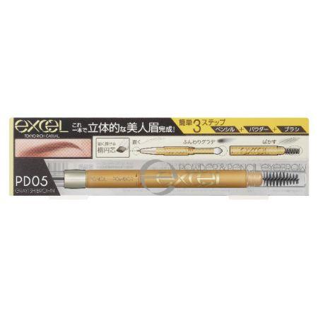 EXCEL3合1持久造型眉筆05炭灰棕,NT520