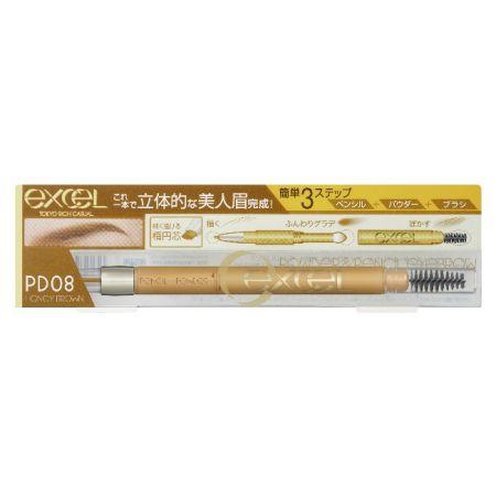 EXCEL3合1持久造型眉筆08蜜糖棕,NT520