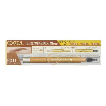 EXCEL3合1持久造型眉筆11杏桃棕,NT520
