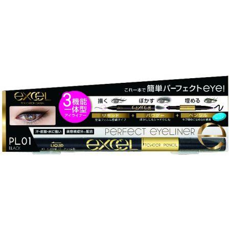 EXCEL3合1炫目眼線液01黑色,NT645