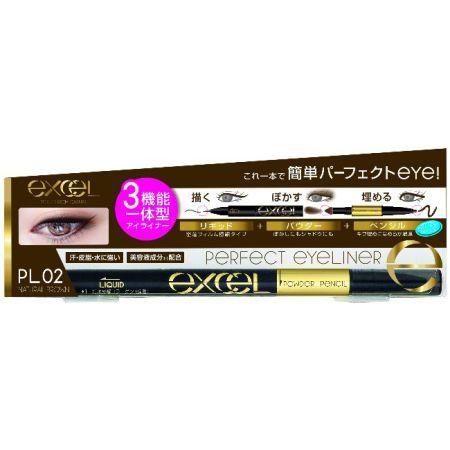 EXCEL3合1炫目眼線液02自然棕色,NT645