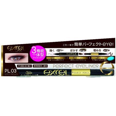 EXCEL3合1炫目眼線液03深棕色,NT645