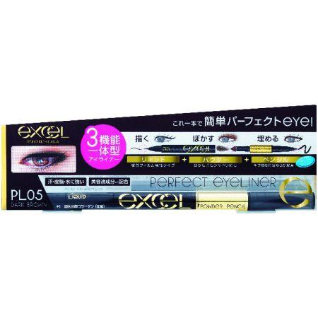 EXCEL3合1炫目眼線液05棕黑色,NT645