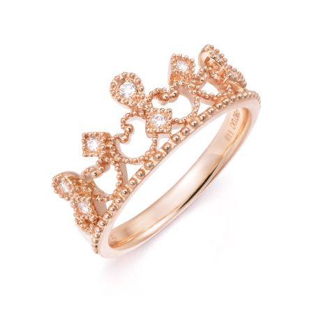 點睛品 V&A 博物館「Bless」18K玫瑰金鑽石戒指 NT$16,000
