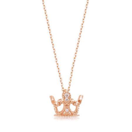 點睛品 V&A 博物館「Bless」18K玫瑰金鑽石頸鍊 NT$21,800