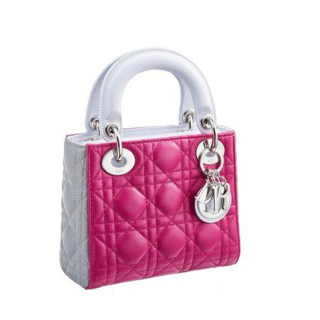 獨賣限定Mini Lady Dior 三色拼接迷你款提包