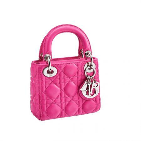 獨賣限定Nano Lady Dior 玫瑰紅迷你款提包