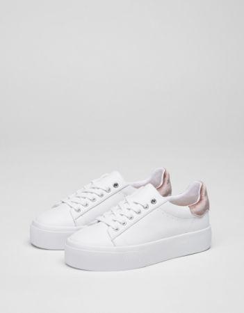 厚底白球鞋NT1290。