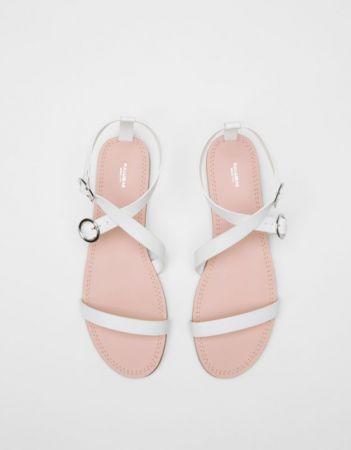 白色涼鞋NT690。