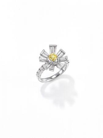 opulence 戒指_鉑金、鑽石、黃鑽。