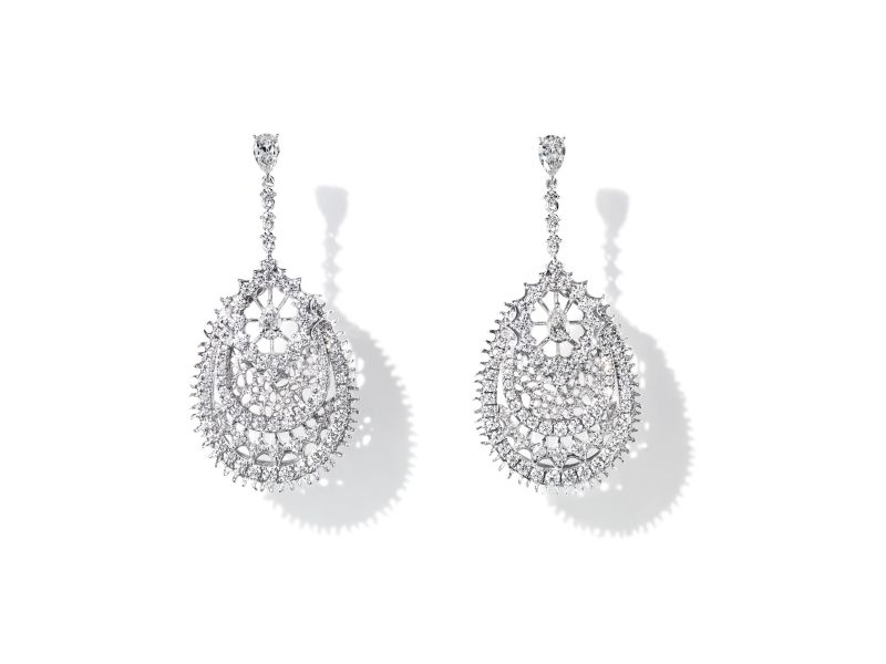 Dentelle Diamonds 耳環_鉑金、鑽石。