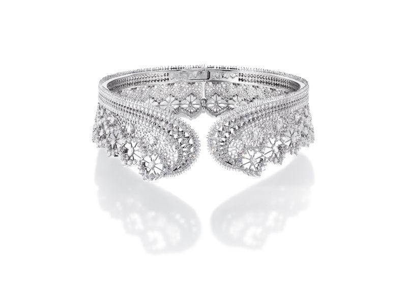 Dentelle Diamonds 項鍊_鉑金、鑽石。