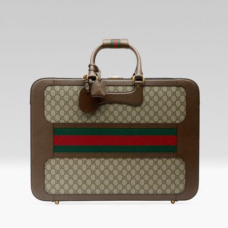 紅綠織帶復古提箱,Gucci