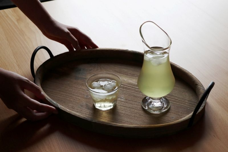 安土草多器皿裝煎茶