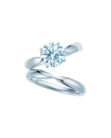 Tiffany Harmony 鉑金鑽戒,鑽石主石0.18克拉起,約NT$ 50,000起。Tiffany Harmony 鉑金戒指 NT$ 41,500