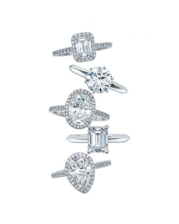 Tiffany 鉑金鑽石戒指 主石0.18克拉起,約NT$50,000起