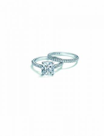 Tiffany Novo新款鑽石鉑金戒指及戒環