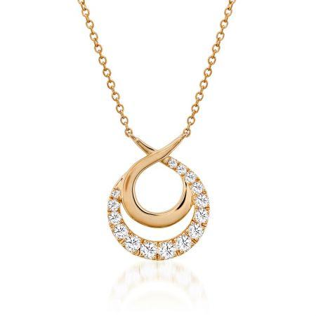 Optima雙環鑽石項鍊,鑽石總重0.78ct 售價$132,000