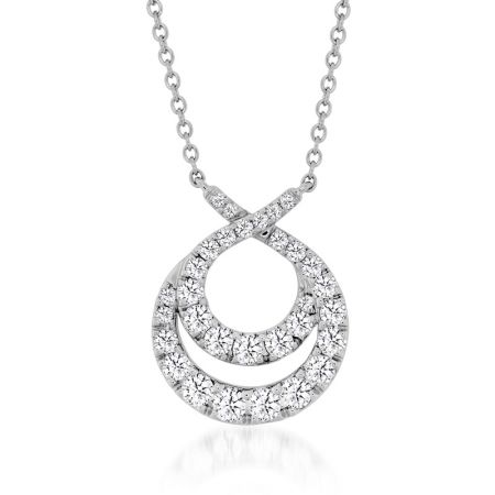 Optim雙環鑽石項鍊,鑽石總重1.26ct 售價$203,000