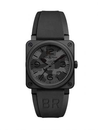 BR 03-92 Black Camo 腕錶,彩色陶瓷錶殼,錶款以航空儀錶為靈感,Bell & Ross。